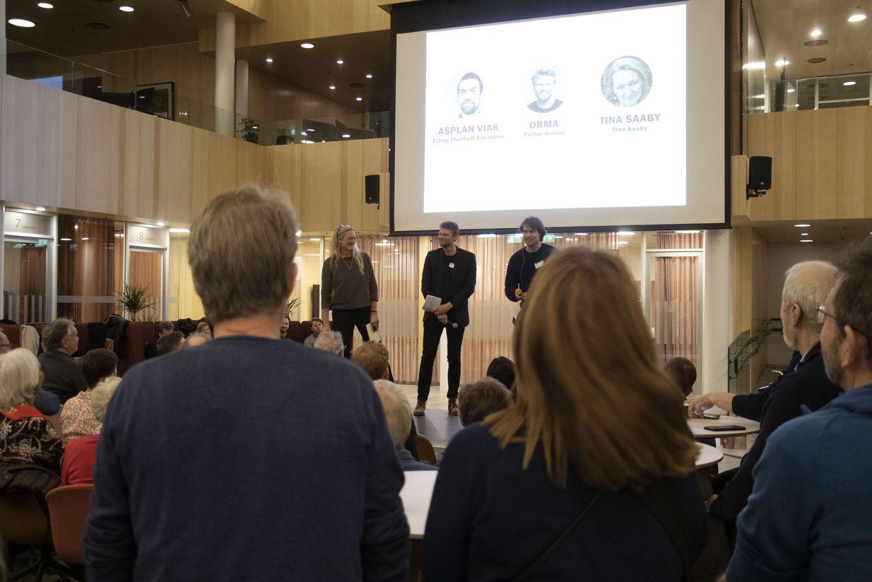 Asplan Viaks fagansvarlig for byplanlegging, Erling Ekerholt Sæveraas, deltok i forrige uke på oppstartsmøte og folkemøte i Bodø. Foto: Asplan Viak