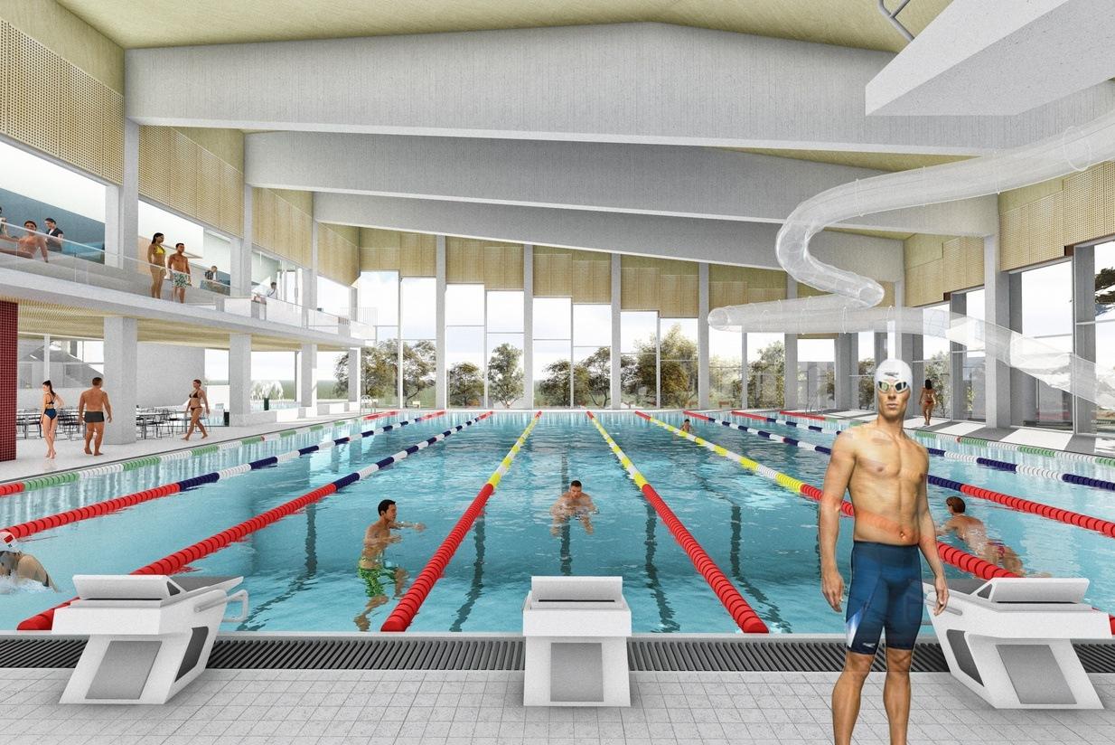Asplan Viak har vært en sentral tverrfaglig rådgiver ved utvikling av gode svømme- og badeanlegg i over 30 år. Illustrasjon: Asplan Viak
