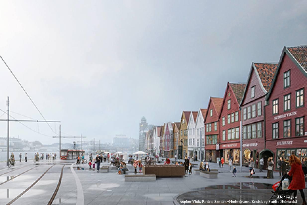 Bryggen. Illustrasjon: Tegmark