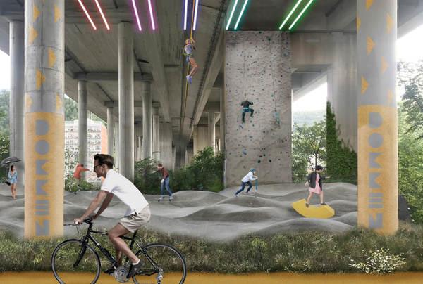 Broparken, aktiviteter. Illustrasjon: Asplan Viak og Mad arkitekter