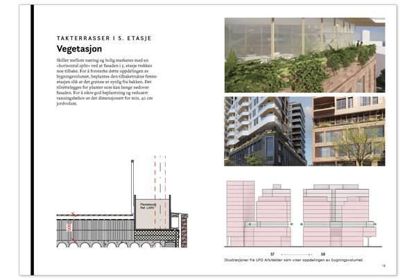 Utdrag fra prosjektets designmanual. Illustrasjon: Asplan Viak