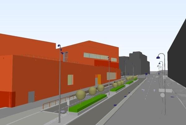 Prosjektet er 3D-modellert i Bimsync. Illustrasjon: Asplan Viak