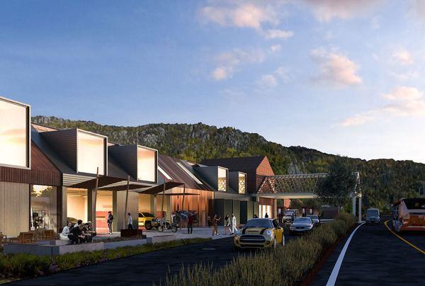 Kiwi og bensinstasjonen YX. Illustrasjon: Vill urbanisme