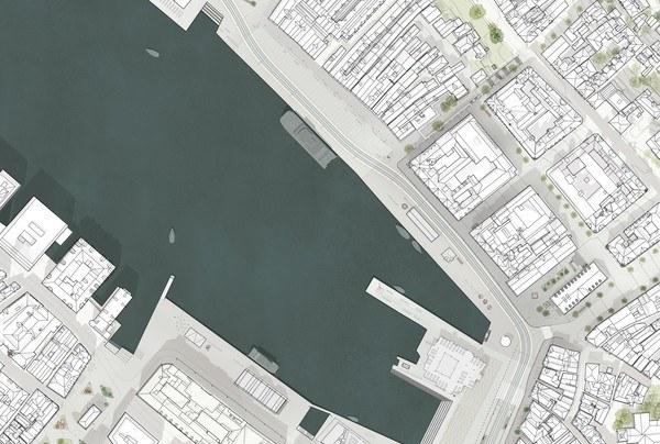 Situasjonsplan. Illustrasjon: Asplan Viak, Rodeo, Sanden+Hodnekvam, Zenisk og Studio Holmedal