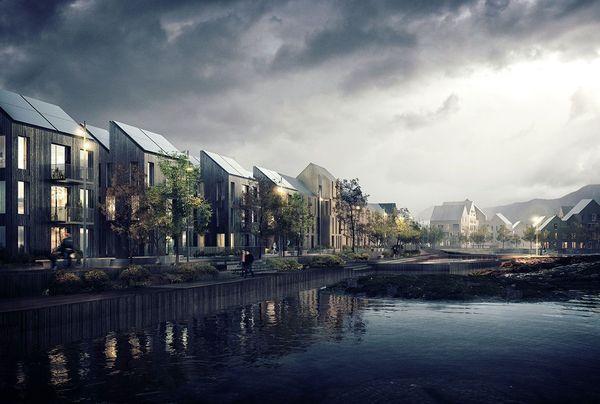 Sørevågen. Illustrasjon: Asplan Viak / MAD / Adrian Ukleja