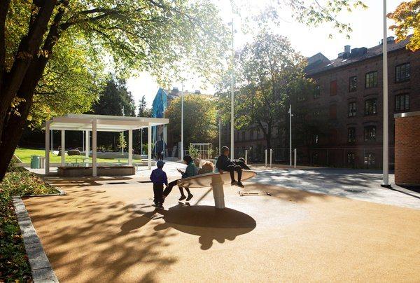 Lakkegata aktivitetspark er finalist til Oslo bys arkitekturpris 2020. Foto: Asplan Viak