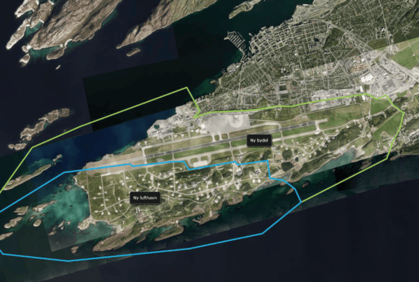Asplan Viak er med og planlegger en helt ny bydel i hjertet av Bodø. Illustrasjon: Bodø kommune