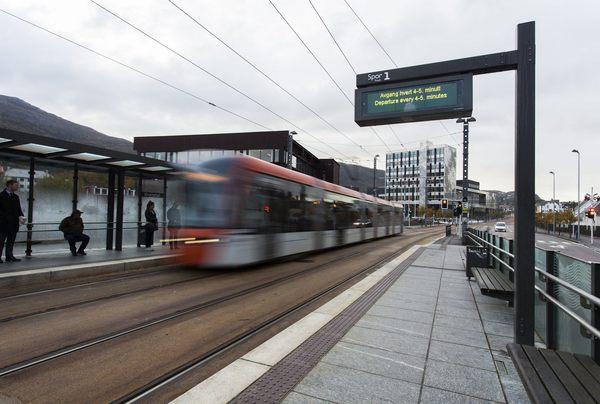 Asplan Viak er med og utvikler bybanen fra Bergen sentrum til Åsane. Foto: Chris Aadland.
