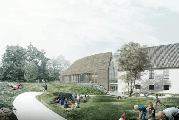 Museumsparken Sør. Illustrasjon: SLA/AART