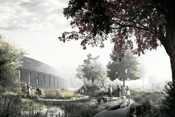 Museumsparken Vest. Illustrasjon: SLA/AART